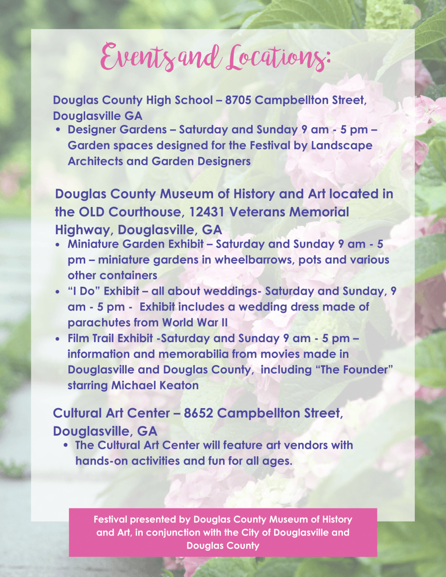 Top Hydrangea Festival in the South Schedule